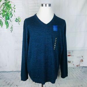 APT. 9 Men's Merino Wool Blend V-Neck Sweater